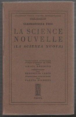 VICO, Principes d'une Science Nouvelle Relative... 1953