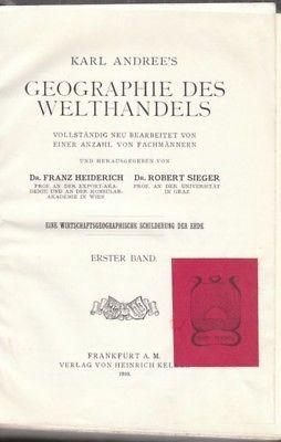 HEIDERICH, Karl Andree's Geographie des... 1910