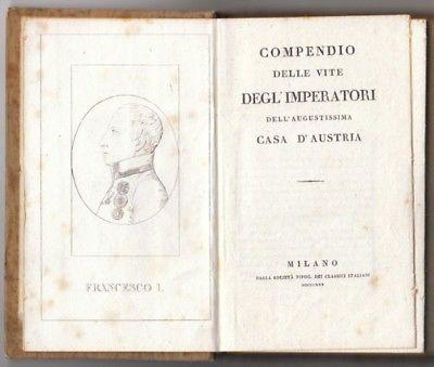 BONOMI, Compendio delle vite degli' imperatori... 1825