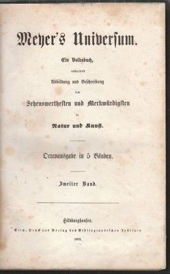 Meyer's Universum. Ein Volksbuch, enthaltend... 1859