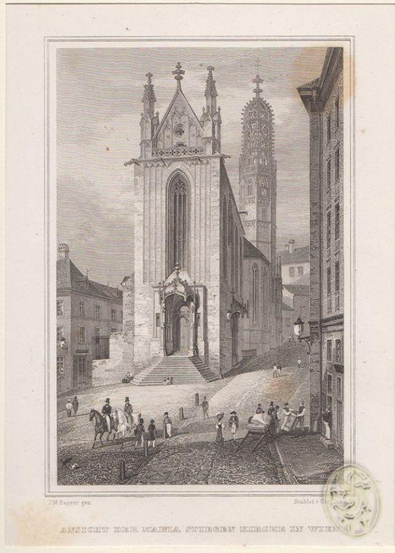 Ansicht der Maria Stiegen Kirche in Wien.