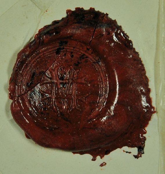 Bürgerliches Siegel mit den Initialen des... 1800