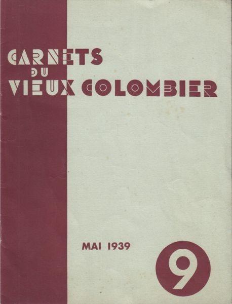 Carnets du Vieux-Colombier. 1939