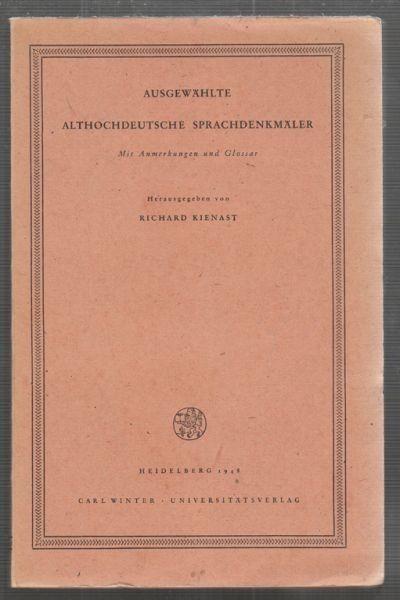 KIENAST. Richard Hrsg.., Ausgewählte... 1948