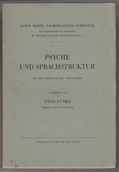 MARTY, Psyche und Sprachstruktur mit einer... 1940