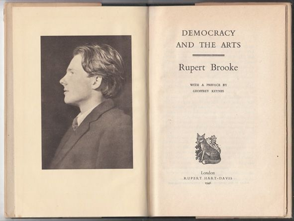 BROOKE, Democracy and The Arts. With a Preface... 1946