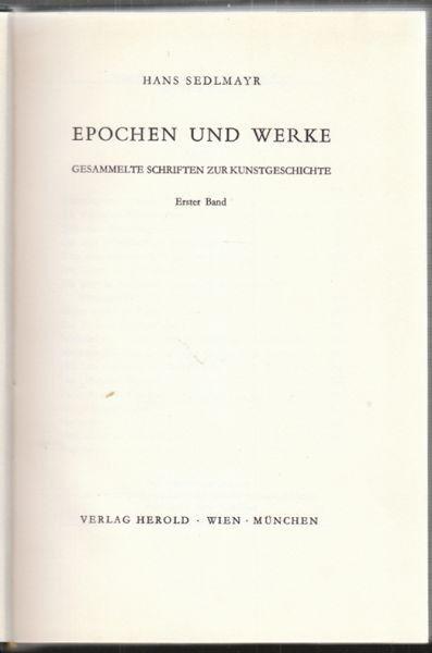 SEDLMAYR, Epochen und Werke. Gesammelte... 1959