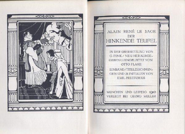 LE SAGE, Der hinkende Teufel. In der Übers. v.... 1910
