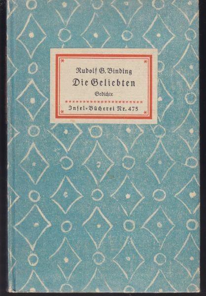 BINDING, Die Geliebten. Gedichte.