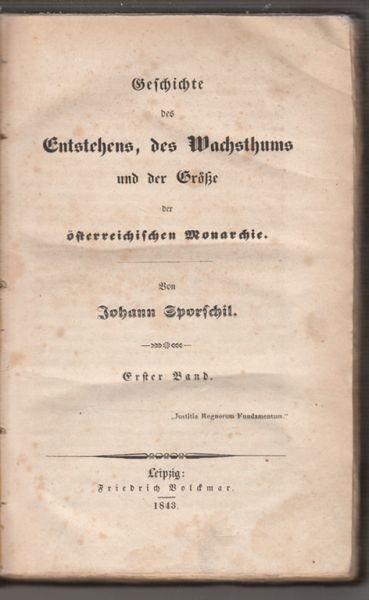 SPORSCHIL, Geschichte des Entstehens, des... 1843