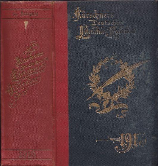 KLENZ, Kürchners Deutscher Literatur-Kalender... 1913