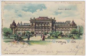 Gruss aus Wien. Kursalon im Stadtpark. 1890