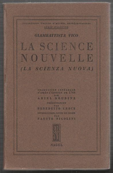 VICO, Principes d'une Science Nouvelle Relative... 1953