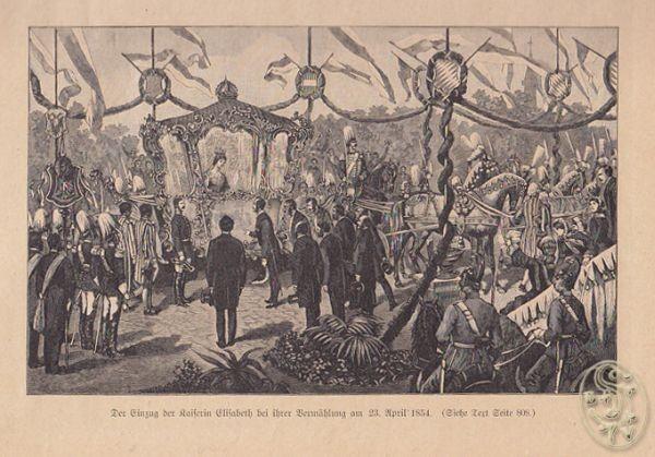 Der Einzug der Kaiserin Elisabeth bei ihrer... 1875