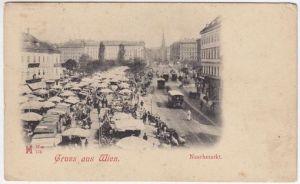 Gruss aus Wien. Naschmarkt. 1890