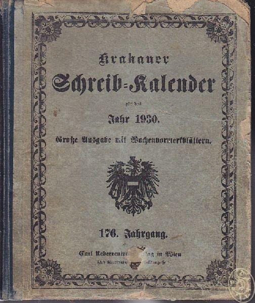 Krakauer Schreib-Kalender für das Jahr 1930.... 1930