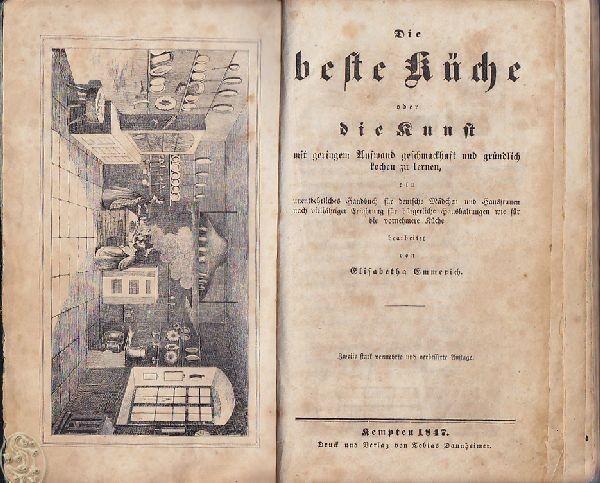 EMMERICH, Die beste Küche oder die Kunst mit... 1847
