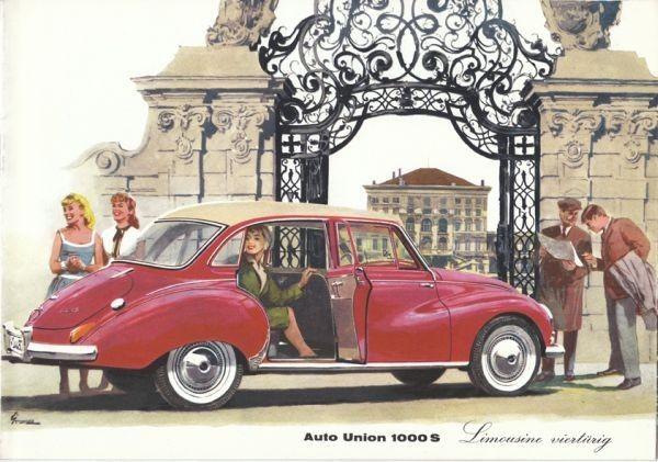 Auto Union Limousine viertürig. 1960 0