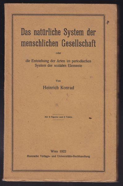 KONRAD, Das natürliche System der menschlichen... 1922