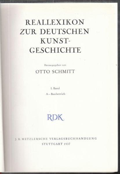 SCHMITT, Reallexikon zur deutschen... 1937