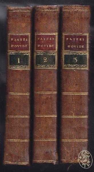 OVIDIUS NASO, Traduction des Fastes d'Ovide,... 1783