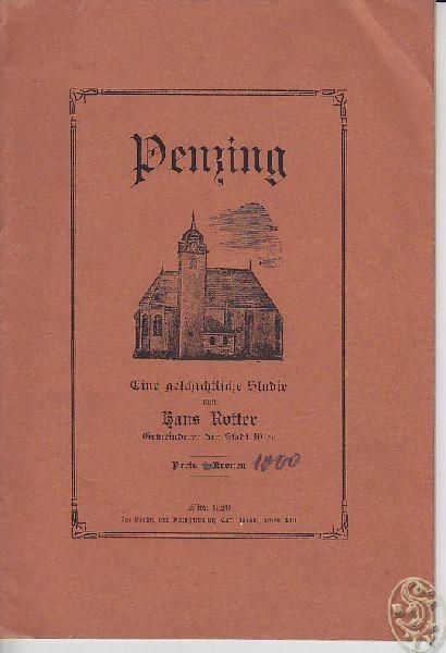 ROTTER, Penzing. Eine geschichtliche Studie. 1920