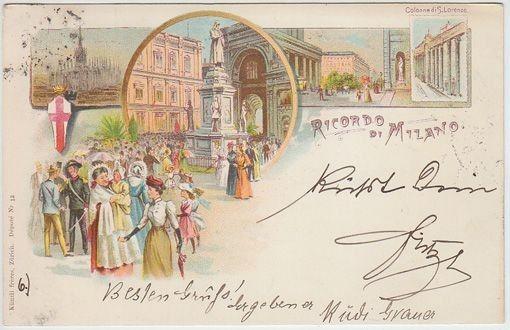 Ricordo di Milano. Colonne du S. Lorenzo. 1890