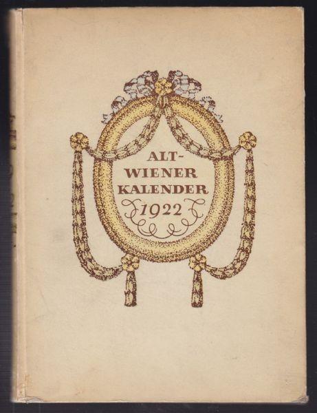 TROST, Alt-Wiener Kalender für das Jahr 1922. 1922
