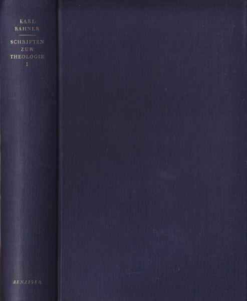 RAHNER, Schriften zur Theologie. 1954