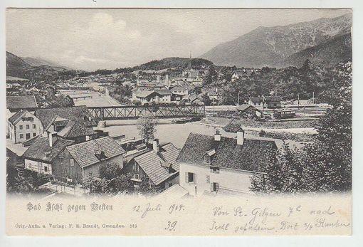 Bad Ischl gegen Westen. 1890