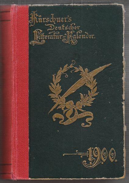 KÜRSCHNER, Deutscher Litteratur Kalender auf... 1896