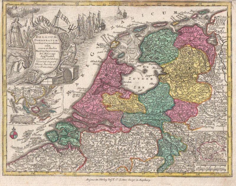 Belgium Foederatum auctius et emendatius edit. cura et Studio Matth. Seutteri S.