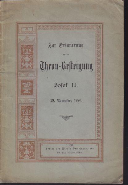 ERINNERUNG, Zur, an die Thronbesteigung Josef... 1880