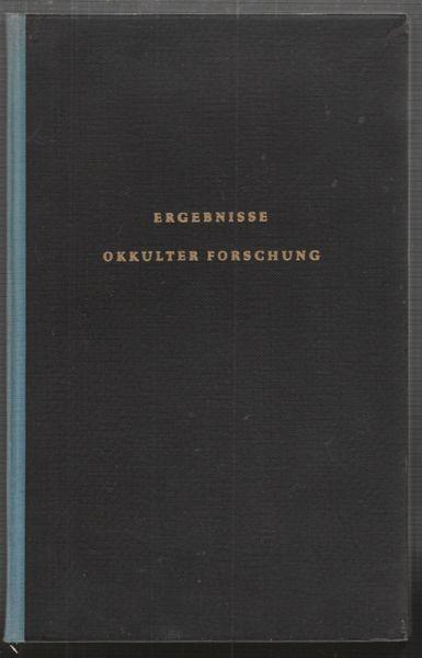TISCHNER, Ergebnisse okkulter Forschung. Eine... 1950