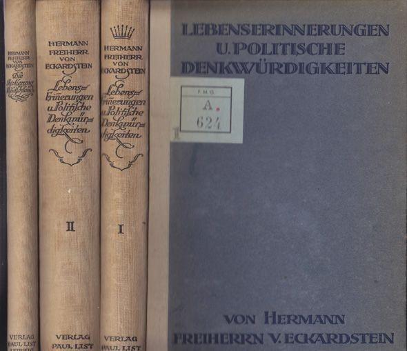 ECKARDSTEIN, Lebens-Erinnerungen u. Politische... 1919