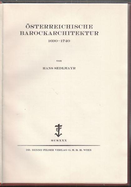 SEDLMAYR, Österreichische Barockarchitektur... 1930
