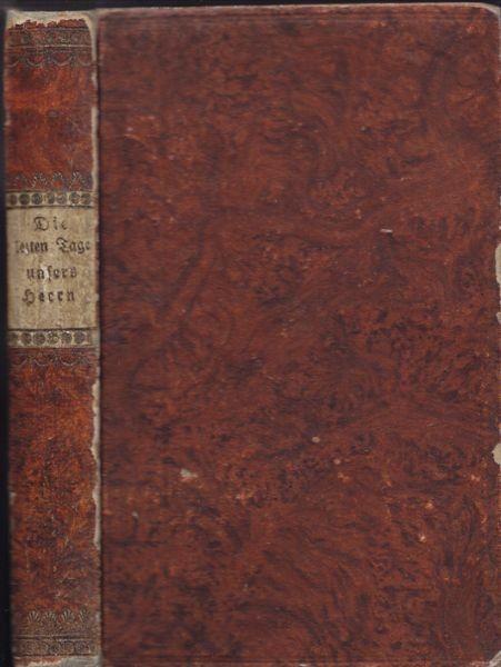 WEBER, Die letzten Tage unsers Herrn Jesu... 1815