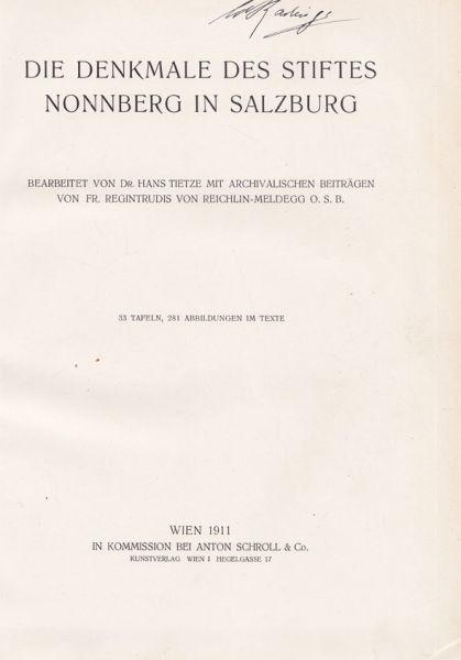 TIETZE, Die Denkmale des Stiftes Nonnberg in... 1911