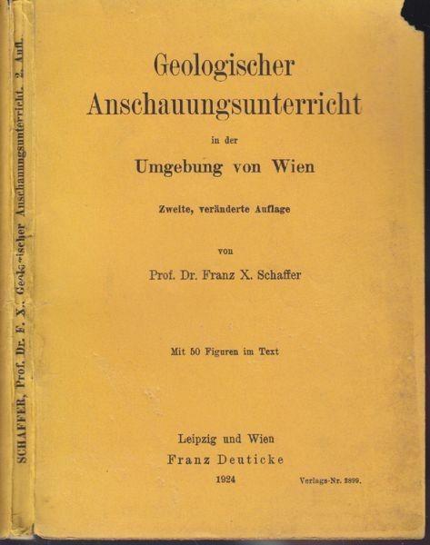 SCHAFFER, Geologischer Anschauungsunterricht in... 1924