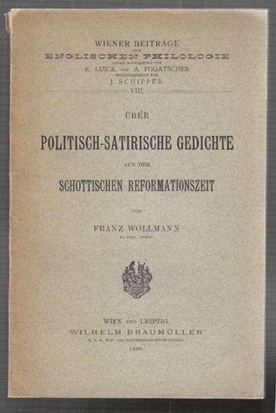 WOLLMANN, Über politisch-satirische Gedichte... 1898
