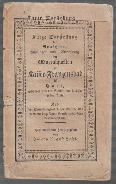 HECHT, Kurze Darstellung der Analysen,... 1824