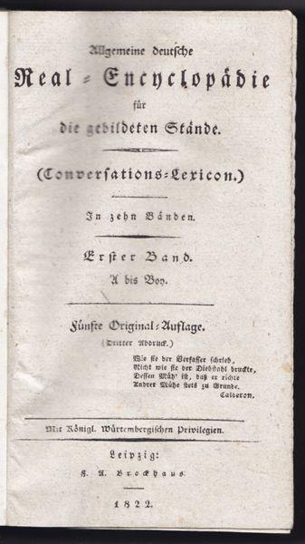 Allgemeine deutsche Real-Encyclopädie für die... 1822