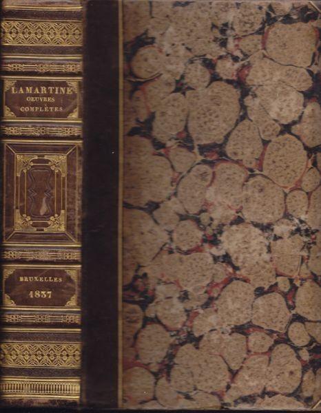 LAMARTINE, Oeuvres de Lamartine de l'Académie... 1837