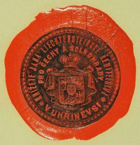 Wappensiegel mit Inschrift: KNIZETE JANA... 1850