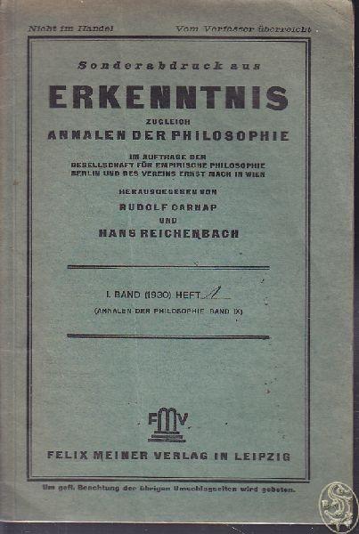 SCHLICK, Die Wende der Philosophie.... 1930