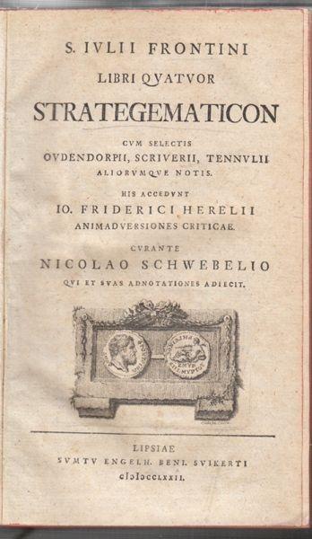 FRONTINUS, S. Iulii Frontini Libri quatuor... 1772