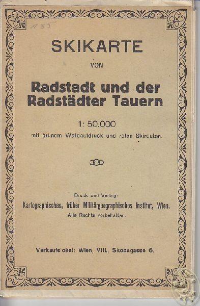 Skikarte von Radstadt und der Radstädter Tauern... 1929