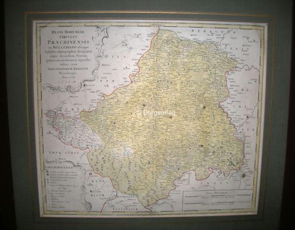 Regni Bohemiae Circulus Prachinensis ex... 1776