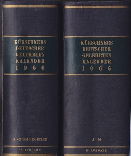 SCHUDER, Kürschners Deutscher... 1966