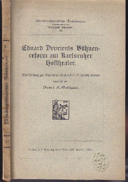 LITZMANN, Theatergeschichtliche Forschungen. 1917